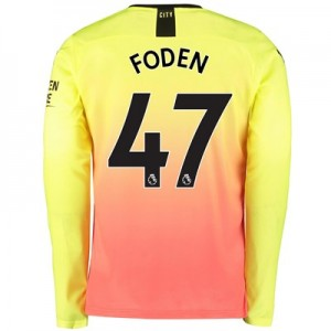 Manchester City Third Shirt 2019-20 - Long Sleeve with Foden 47 printing