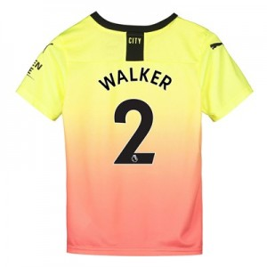 Manchester City Third Shirt 2019-20 - Kids with Walker 2 printing