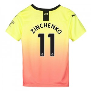 Manchester City Third Shirt 2019-20 - Kids with Zinchenko 11 printing