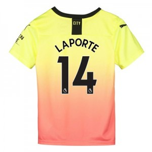 Manchester City Third Shirt 2019-20 - Kids with Laporte 14 printing