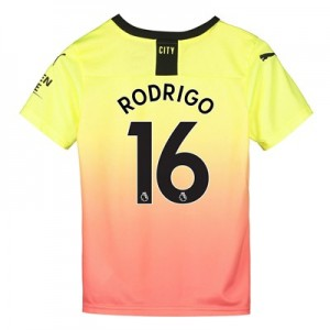 Manchester City Third Shirt 2019-20 - Kids with Rodrigo 16 printing