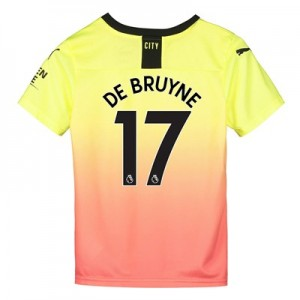 Manchester City Third Shirt 2019-20 - Kids with De Bruyne 17 printing
