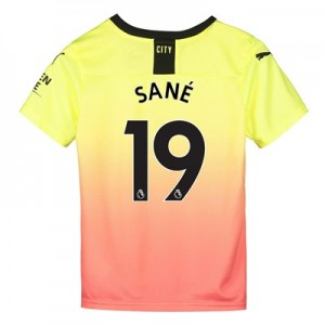 Manchester City Third Shirt 2019-20 - Kids with Sané 19 printing