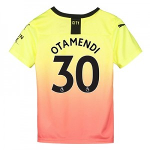 Manchester City Third Shirt 2019-20 - Kids with Otamendi 30 printing