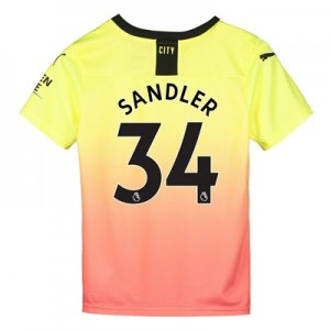 Manchester City Third Shirt 2019-20 - Kids with Sandler 34 printing