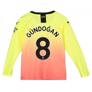 Manchester City Third Shirt 2019-20 - Long Sleeve - Kids with Gündogan 8 printing