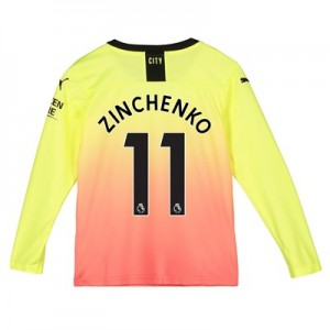 Manchester City Third Shirt 2019-20 - Long Sleeve - Kids with Zinchenko 11 printing