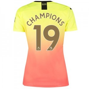 Manchester City Third Shirt 2019-20 - Womens with Champions 19 printing