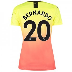 Manchester City Third Shirt 2019-20 - Womens with Bernardo 20 printing