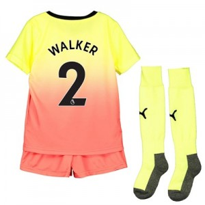 Manchester City Third Mini Kit 2019-20 with Walker 2 printing