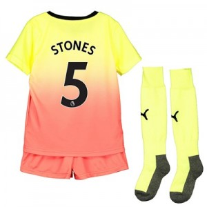 Manchester City Third Mini Kit 2019-20 with Stones 5 printing