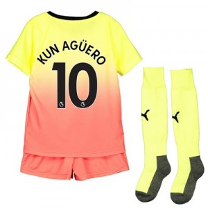 Manchester City Third Mini Kit 2019-20 with Kun Agüero  10 printing