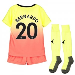 Manchester City Third Mini Kit 2019-20 with Bernardo 20 printing