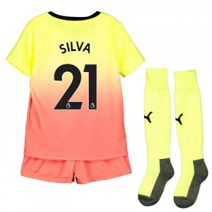 Manchester City Third Mini Kit 2019-20 with Silva 21 printing