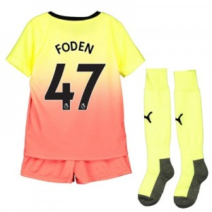 Manchester City Third Mini Kit 2019-20 with Foden 47 printing