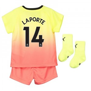 Manchester City Third Baby Kit 2019-20 with Laporte 14 printing