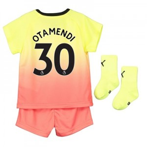 Manchester City Third Baby Kit 2019-20 with Otamendi 30 printing
