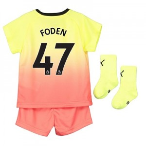 Manchester City Third Baby Kit 2019-20 with Foden 47 printing