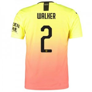 Manchester City Authentic Cup Third Shirt 2019-20 with Walker 2 printing