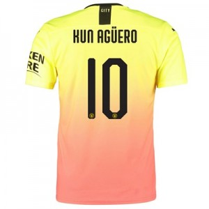 Manchester City Authentic Cup Third Shirt 2019-20 with Kun Agüero  10 printing