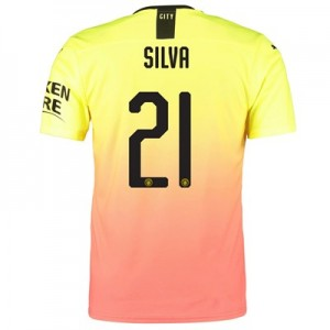 Manchester City Authentic Cup Third Shirt 2019-20 with Silva 21 printing