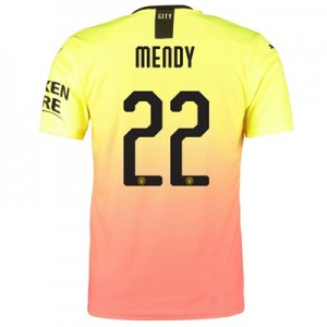 Manchester City Authentic Cup Third Shirt 2019-20 with Mendy 22 printing