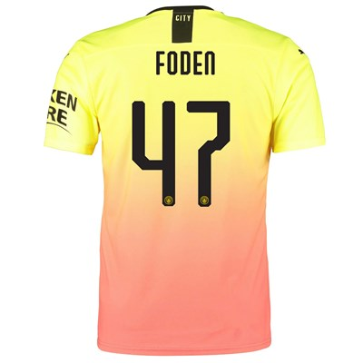 Manchester City Authentic Cup Third Shirt 2019-20 with Foden 47 printing
