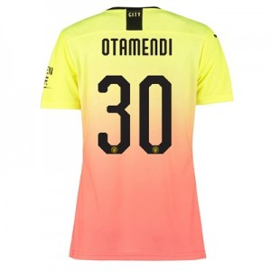 Manchester City Authentic Cup Third Shirt 2019-20 - Womens with Otamendi 30 printing
