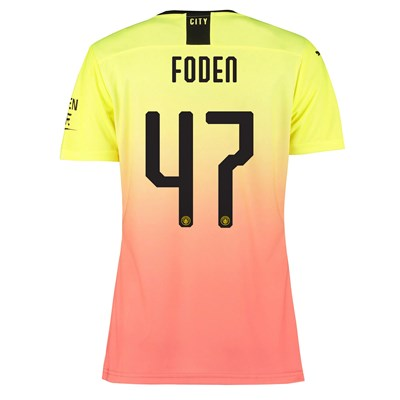 Manchester City Authentic Cup Third Shirt 2019-20 - Womens with Foden 47 printing