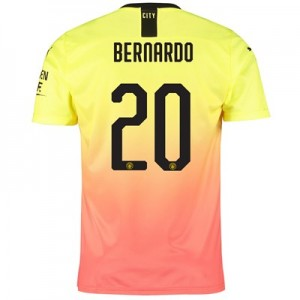 Manchester City Cup Third Shirt 2019-20 with Bernardo 20 printing