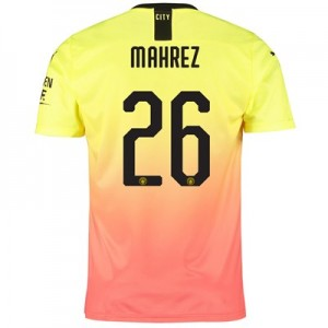 Manchester City Cup Third Shirt 2019-20 with Mahrez 26 printing