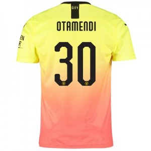 Manchester City Cup Third Shirt 2019-20 with Otamendi 30 printing