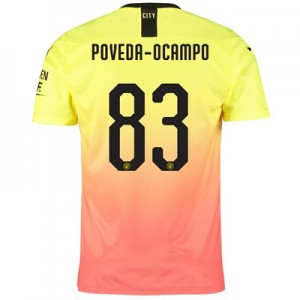 Manchester City Cup Third Shirt 2019-20 with Poveda-Ocampo 83 printing