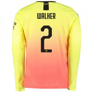 Manchester City Cup Third Shirt 2019-20 - Long Sleeve with Walker 2 printing