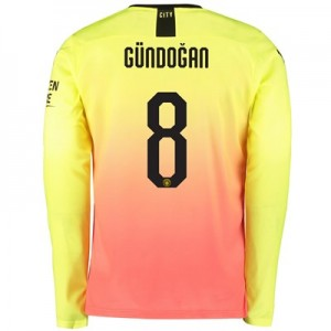 Manchester City Cup Third Shirt 2019-20 - Long Sleeve with Gündogan 8 printing