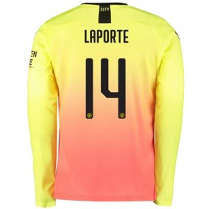 Manchester City Cup Third Shirt 2019-20 - Long Sleeve with Laporte 14 printing