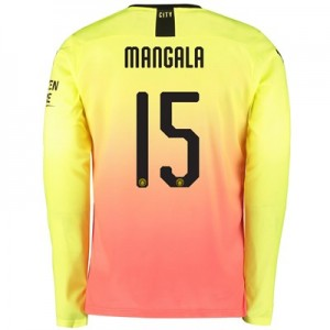 Manchester City Cup Third Shirt 2019-20 - Long Sleeve with Mangala 15 printing