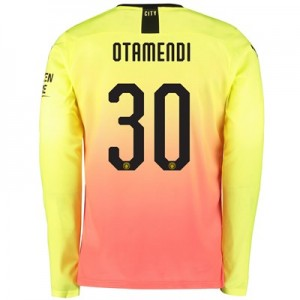 Manchester City Cup Third Shirt 2019-20 - Long Sleeve with Otamendi 30 printing