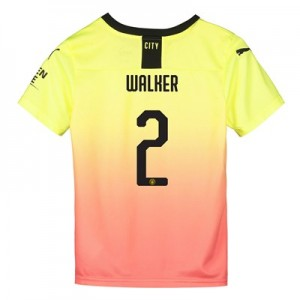 Manchester City Cup Third Shirt 2019-20 - Kids with Walker 2 printing