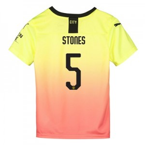 Manchester City Cup Third Shirt 2019-20 - Kids with Stones 5 printing