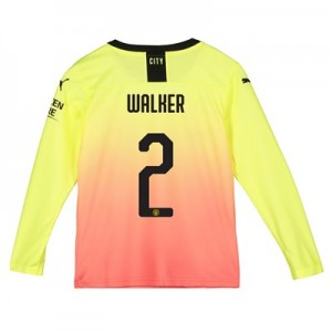 Manchester City Cup Third Shirt 2019-20 - Long Sleeve - Kids with Walker 2 printing