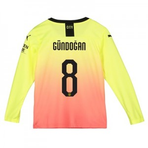 Manchester City Cup Third Shirt 2019-20 - Long Sleeve - Kids with Gündogan 8 printing