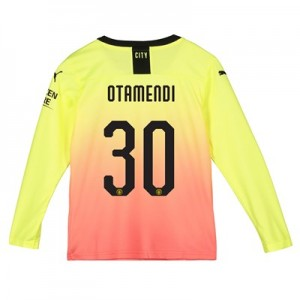 Manchester City Cup Third Shirt 2019-20 - Long Sleeve - Kids with Otamendi 30 printing