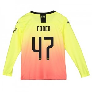 Manchester City Cup Third Shirt 2019-20 - Long Sleeve - Kids with Foden 47 printing