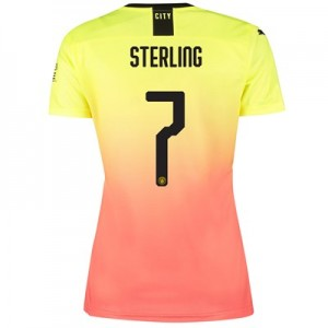 Manchester City Cup Third Shirt 2019-20 - Womens with Sterling 7 printing
