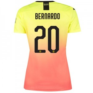 Manchester City Cup Third Shirt 2019-20 - Womens with Bernardo 20 printing