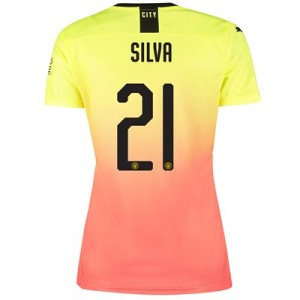 Manchester City Cup Third Shirt 2019-20 - Womens with Silva 21 printing