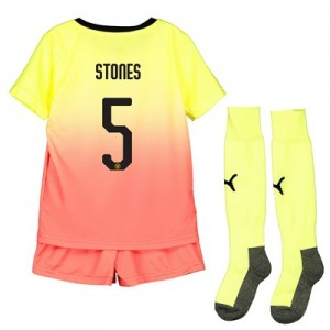 Manchester City Cup Third Mini Kit 2019-20 with Stones 5 printing