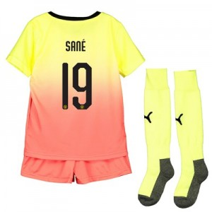 Manchester City Cup Third Mini Kit 2019-20 with Sané 19 printing