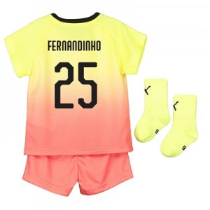 Manchester City Cup Third Baby Kit 2019-20 with Fernandinho 25 printing